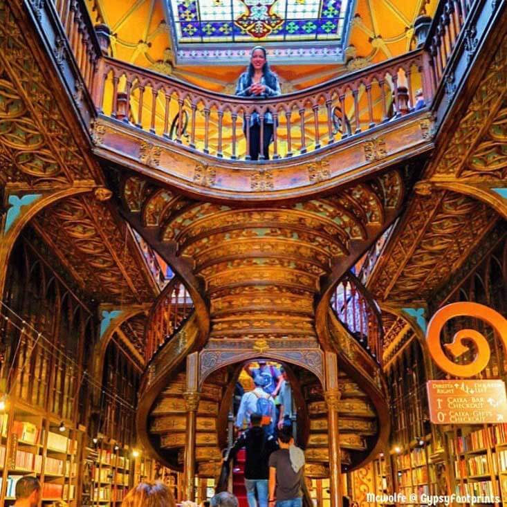 Me at the Lello Bookshop